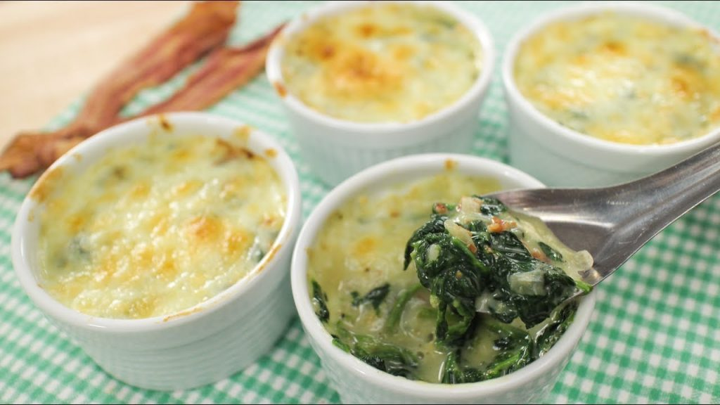 Easy Baked Spinach with Cheese