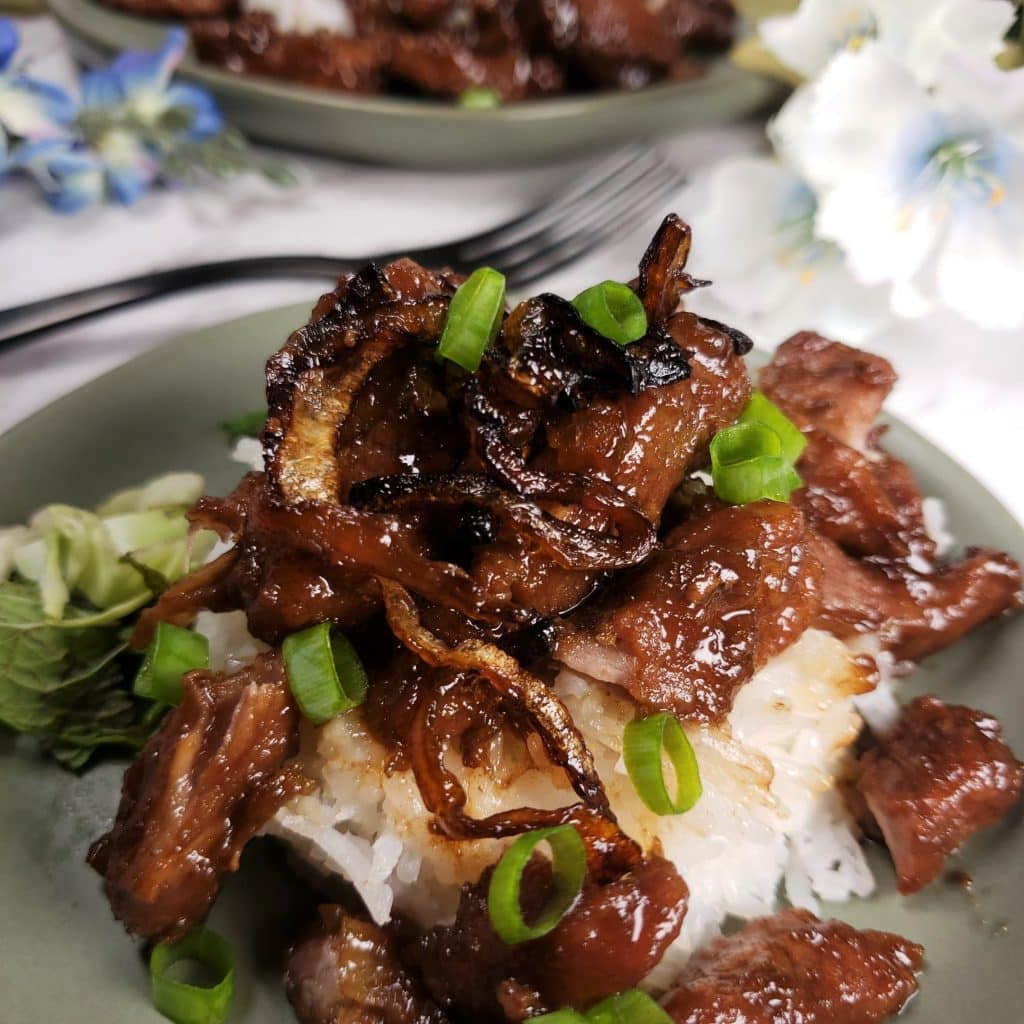 Pork Slices with Teriyaki Sauce