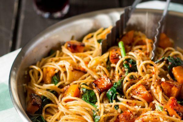 Spaghetti Pumpkin and Spinach