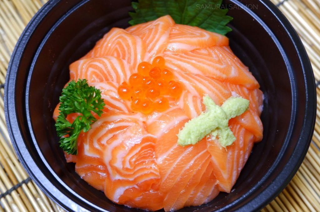Raw fish bowl